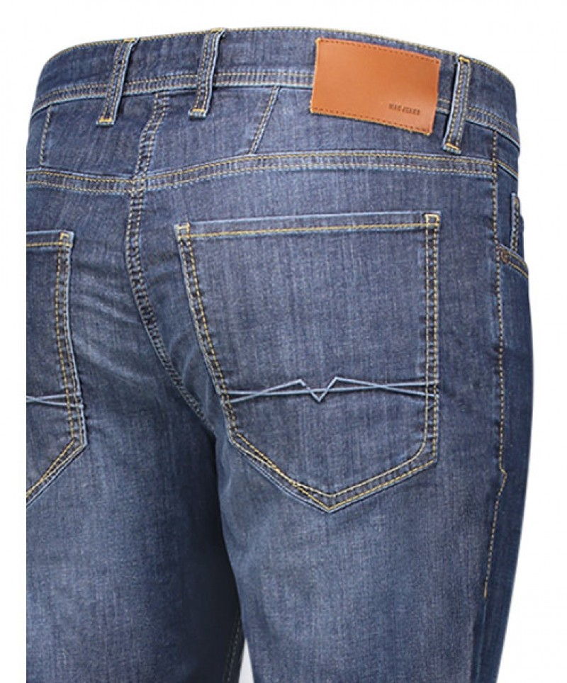 MAC Arne Jeans - superleichter Denim - Dark Blue Light Used