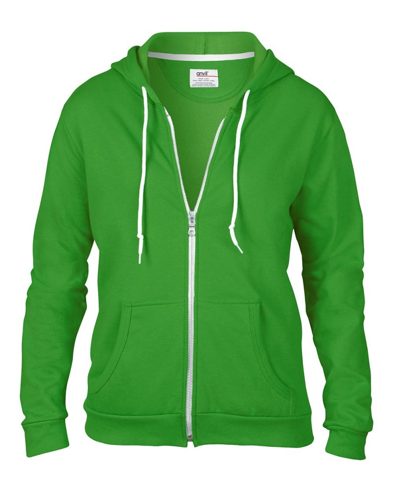 Anvil Sweatshirt - Kaputzenjacke - Green Appel