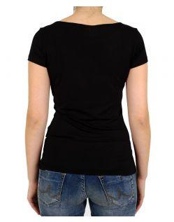 VERO MODA T-Shirt - DOLLAR - Schwarz - Hinten