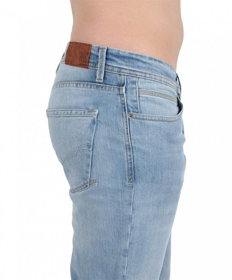 HIS STANTON Jeans - Straight Leg - Blue Blast Wash