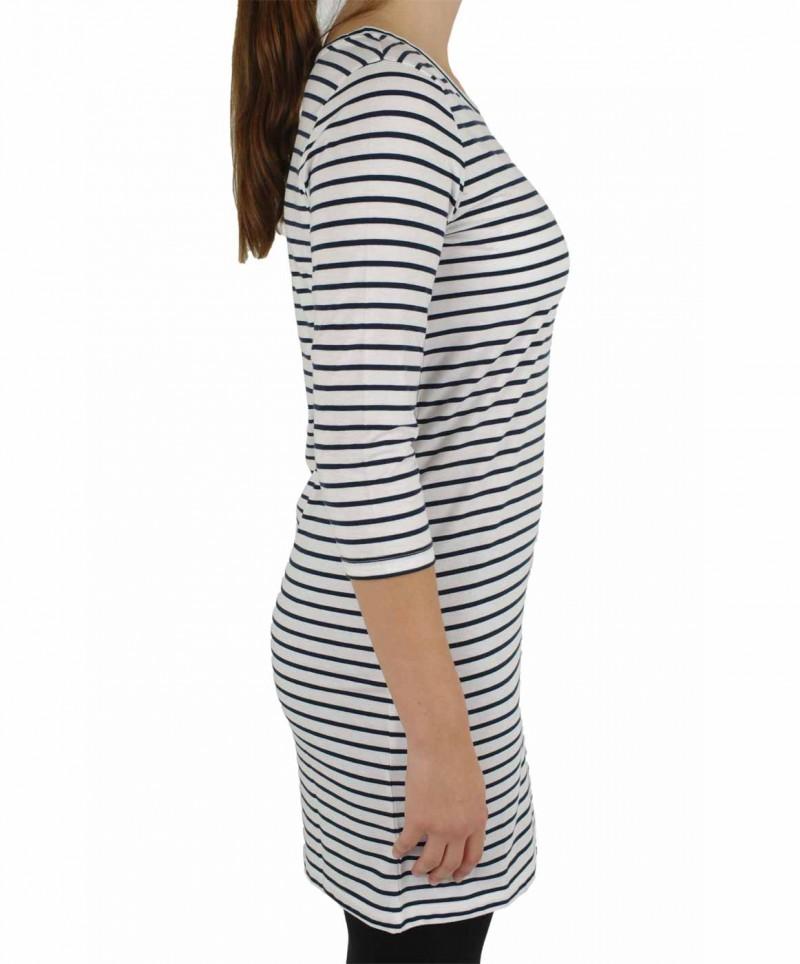 Vero Moda Kleid - Striped Dress - White-Black