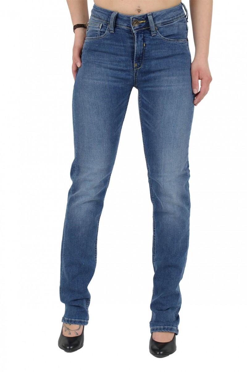 Garcia Jeans Ciara - Straight Leg - Medium Blue Used