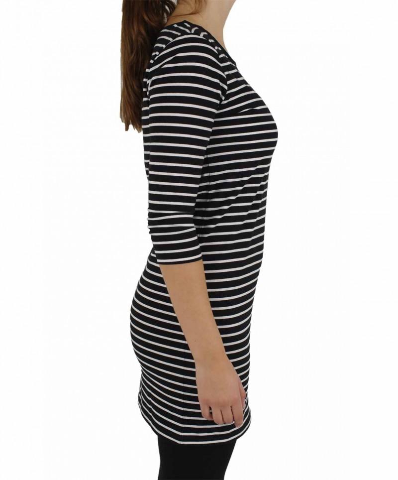 Vero Moda Kleid - Striped Dress - Black-White