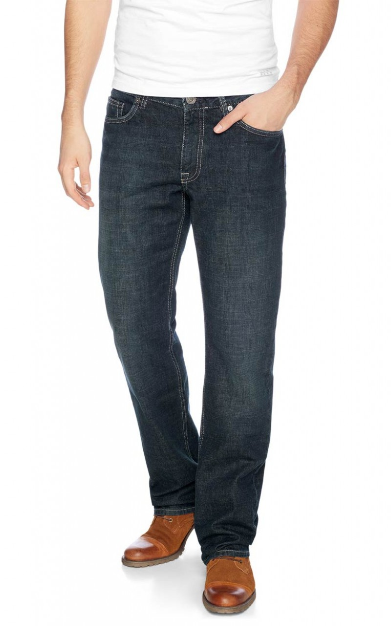 HIS Stanton Jeans - Straight Leg - Dark Blue Used