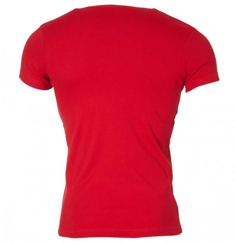 Gin Tonic Basic T-Shirt - Tight Fit - Rot v