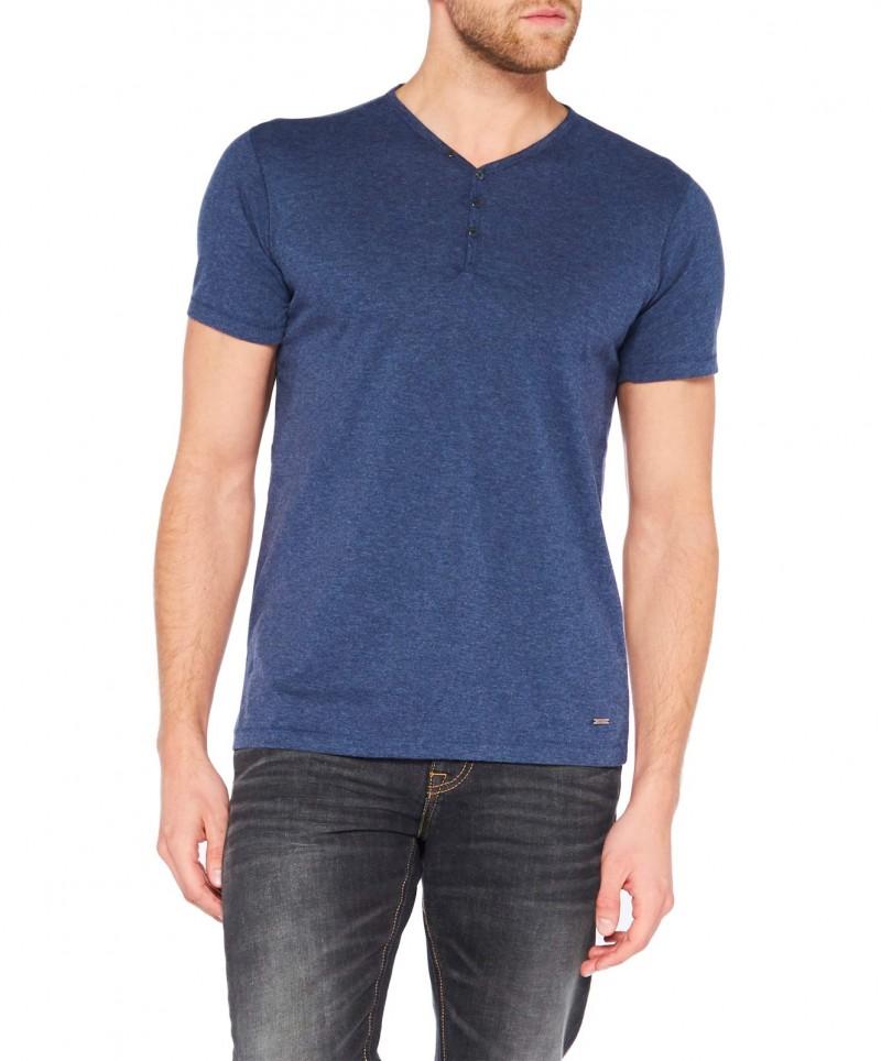 Colorado Wassily - V-Neck T-Shirt - Mood Indigo Mel