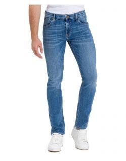 Cross Damien – Gerade, enge Jeans in hellblau verwaschen