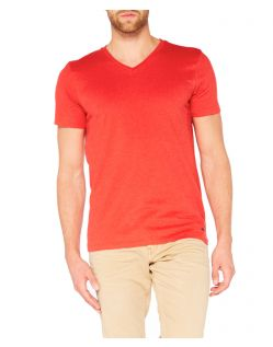 65059Colorado Joaquim - V-Neck T-Shirt - Aurora Red Mel