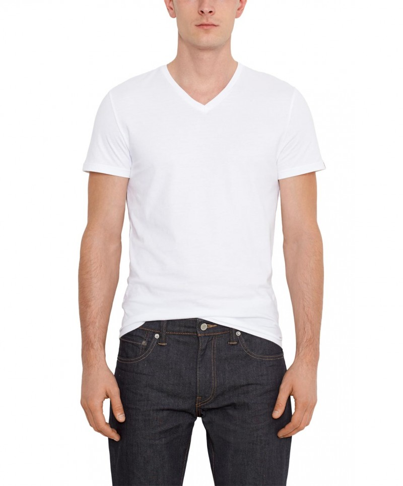 LEVI'S T-Shirts - Doppelpack V-Neck  -  grau