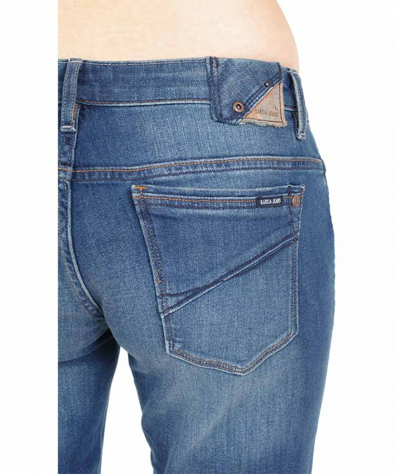 GARCIA RIVA Jeans - Straight Leg - Dark Blue Used