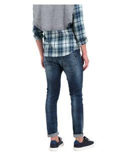 Garcia Russo - Enge Jeans in dunkelblauer Vintage-Waschung - Hinten