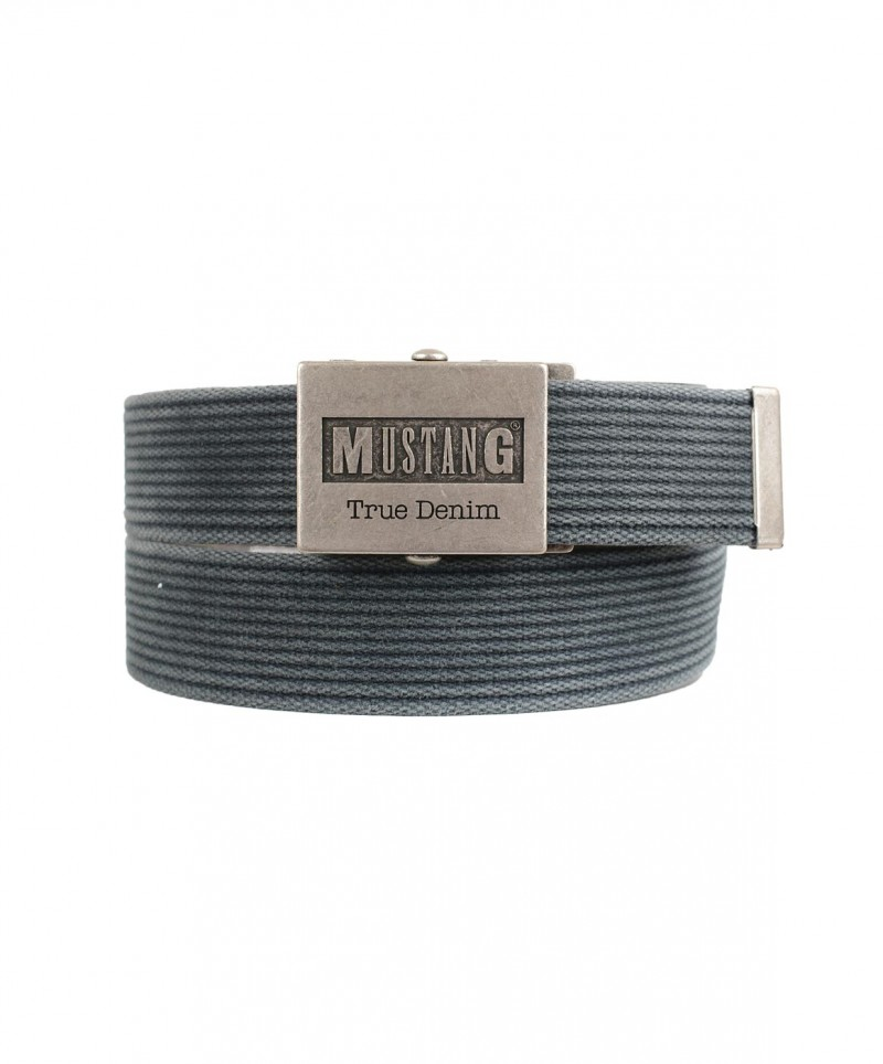 Mustang Gürtel - Woven - Anthracite Grey