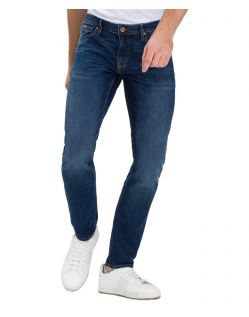 Cross Damien – Gerade Slim-Fit-Jeans in Stone Wash