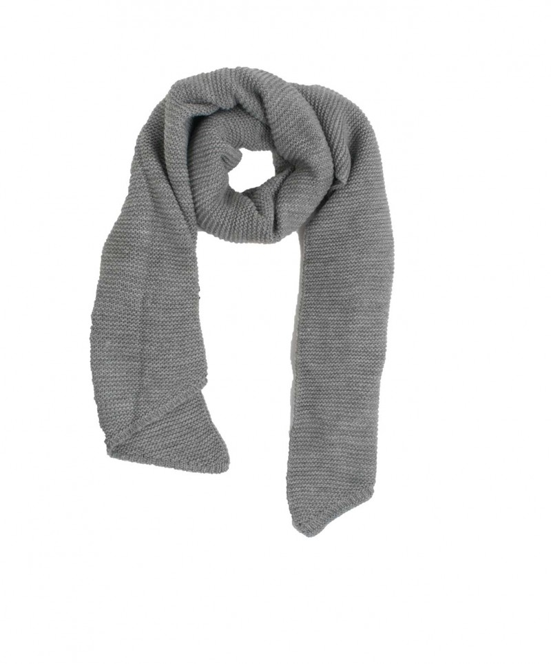 Vero Moda Misty - Gestrickter Schal - Light Grey Melange