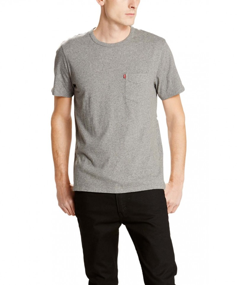 Levis T-Shirt - Sunset Pocket Tee - Grau