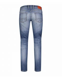 Mac Stan - Slim fit Jeans in hellblauem Vintage Look f02