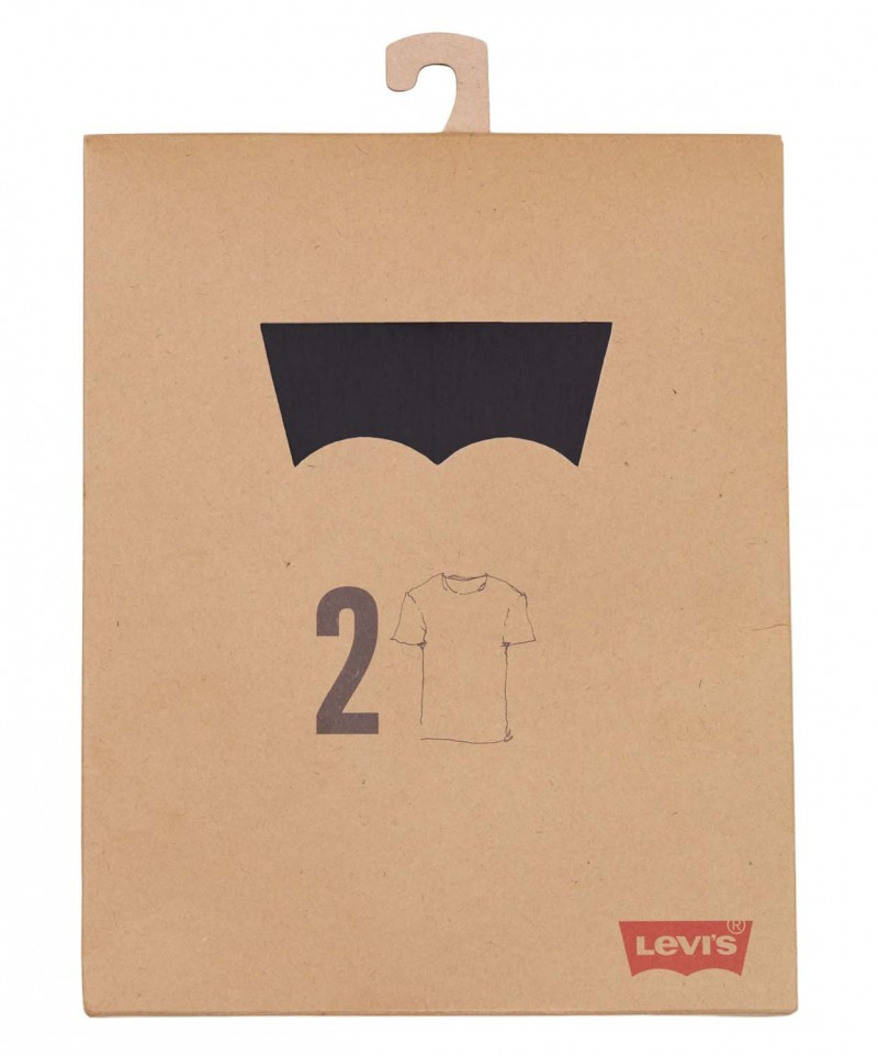 Levis T-Shirt - 2 Pack Crew Tee - Slim Fit - schwarz