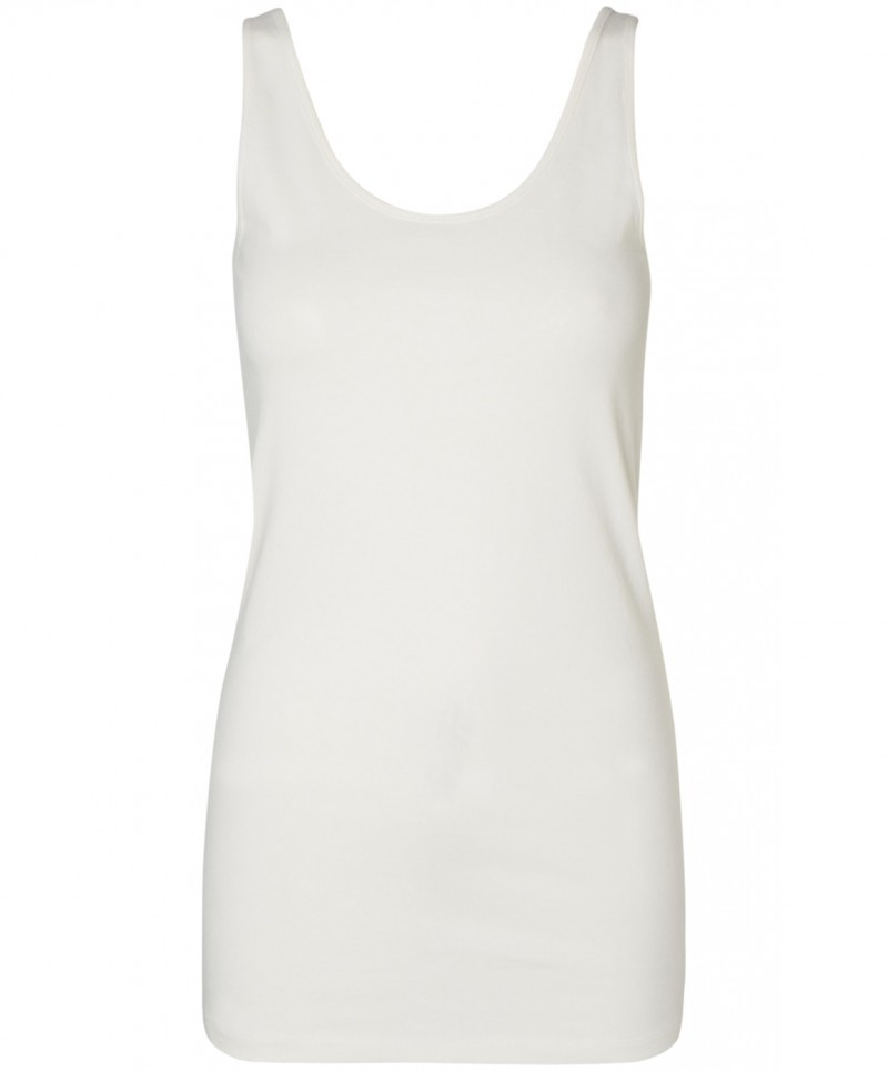 VERO MODA - Maxi Soft Long Tank Top - Weiss