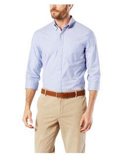Dockers - Elastisches Oxford-Hemd in Blau mit schmaler Passform