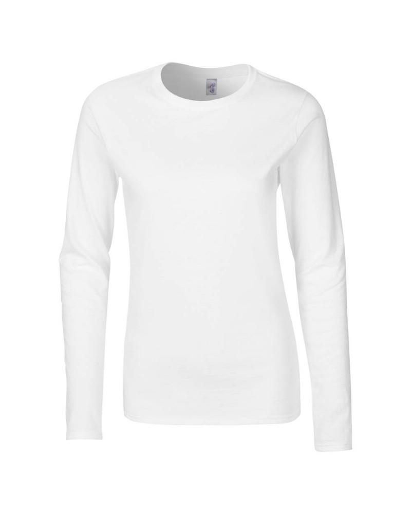 Gildan Langarmshirt - Softstyle - White v