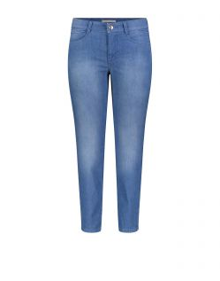Mac Angela - 7/8 Jeans in Light Blue mit Schlitz am Saum
