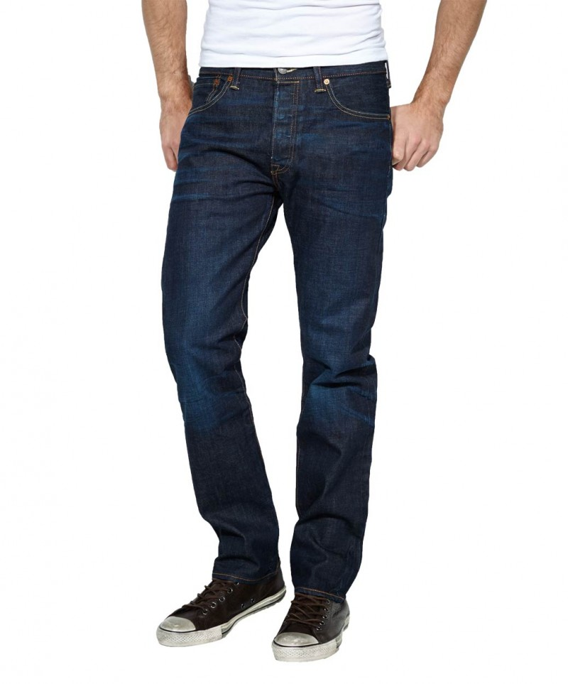 Levis 501 Jeans - Standard Fit - Blue Lane