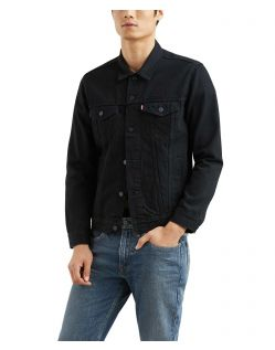 Levis - Schwarze Jeansjacke Herren in normaler Passform
