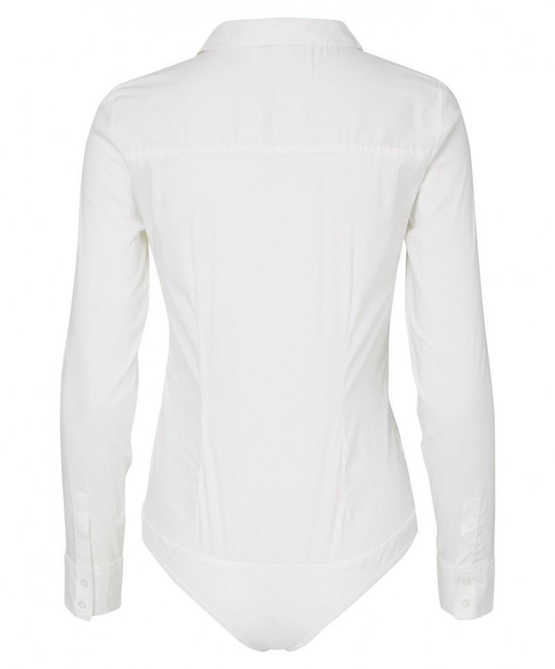 Vero Moda Lady - Bodybluse in Weiß mit Kentkragen