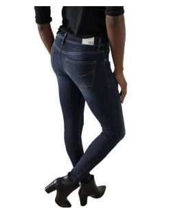 HIS LORRAINE - Super Skinny Jeans - Advanced Dark Blue Wash - Hinten