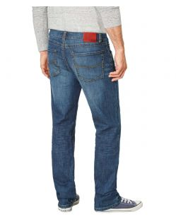 Paddocks Carter Jeans - Blue Dark Stone Used Moustache - Hinten