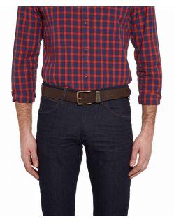 Wrangler Gürtel Basic Stitched Belt in Brown