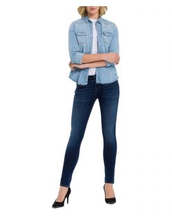 Cross Melinda - Enge Jeans mit High Waist in Dunkelblau