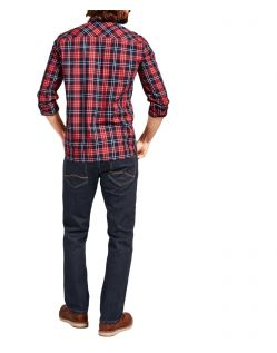 Mustang Oregon Straight Jeans in Rinse mit vertiefter Bundhöhe - Hinten