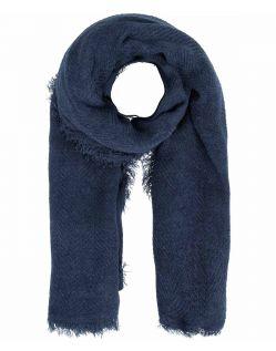 PIECES POKSY - Einfarbig gewebter Schal - Blau