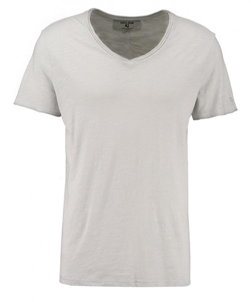 GARCIA MARCO - V-Neck T-Shirt - Grau - Vorne