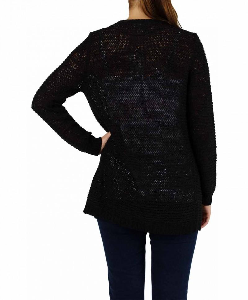 Vero Moda - VERLA LONG CARDIGAN - Black