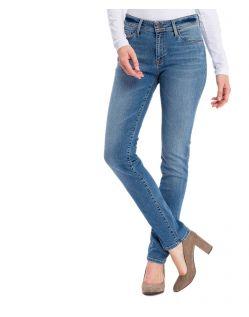 Cross Anya - hellblaue Slim-Fit-Jeans mit hohem Bund