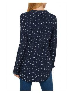 Vero Moda Soffi - schwarzes Blusenshirt mit Vogelmuster - Hinten