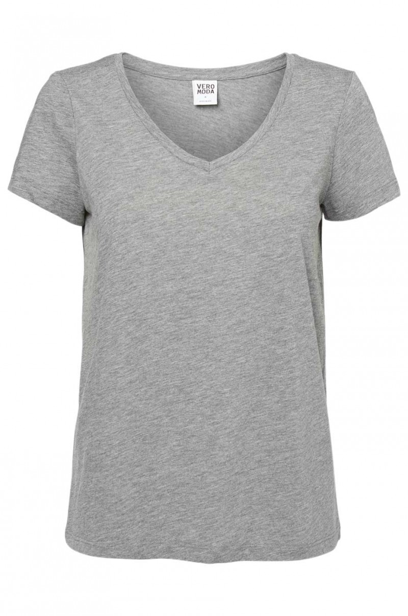 Vero Moda T-Shirt - MOLLY - Med. Grey Melange