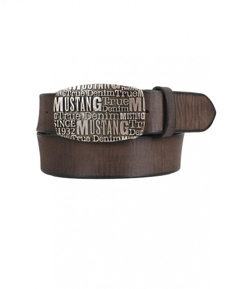 Mustang Gürtel - Pinschließe - Dunkel Braun
