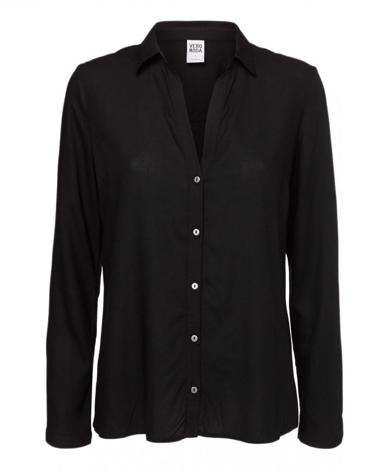 Vero Moda Bluse - Manda Shirt - Schwarz