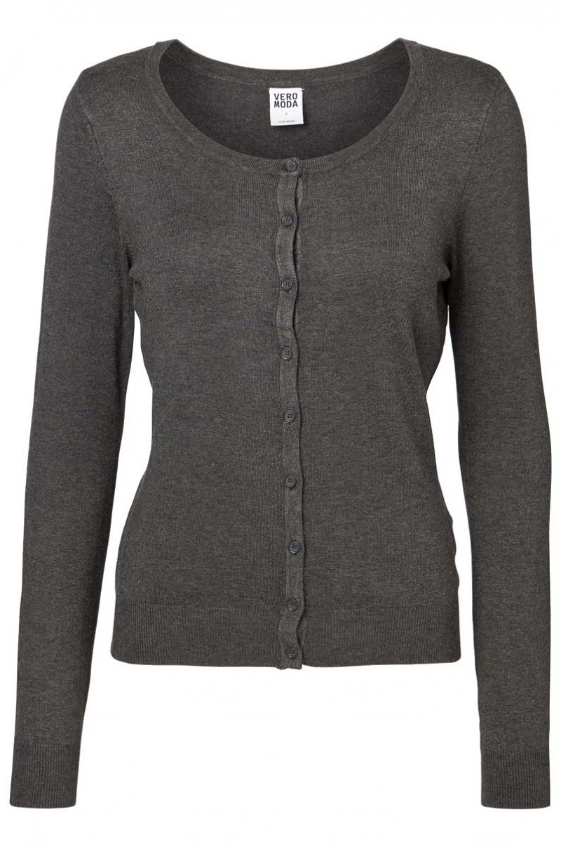 Vero Moda - Glory Strickjacke - Dark Grey Melange