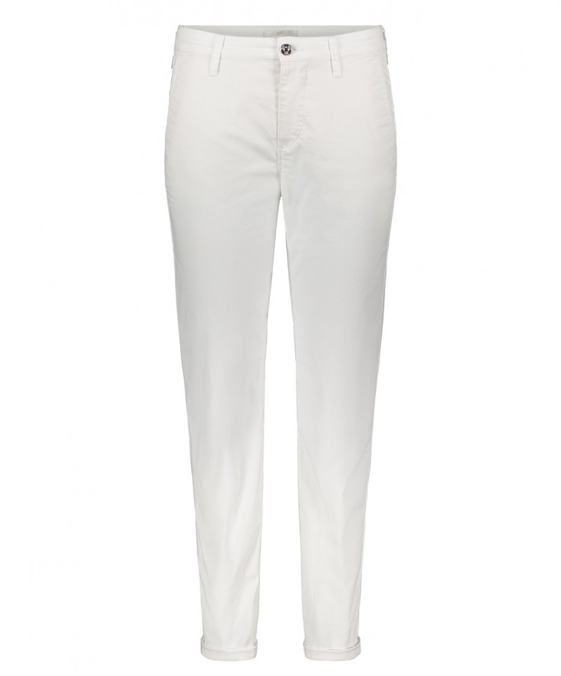 MAC Chino - Relaxed Slim Fit - White