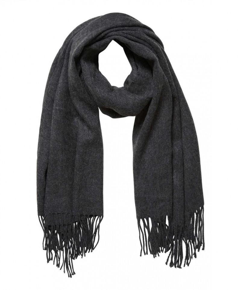 Vero Moda Solid - Lange Fransen - Dark Grey Melange