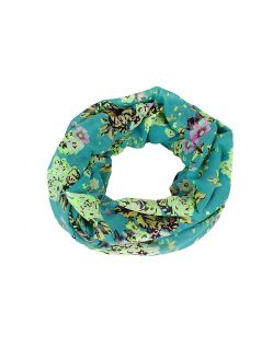 Pieces TABITA FLOWER Schlauchschal aquatic blue