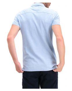 Garcia Pietro - hellblaues Polo-T-Shirt mit gesticktem Logo - Hinten
