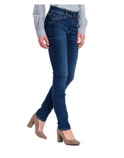 Cross Anya - Hoch sitzende, Slim-Fit-Jeans in dunkelblau