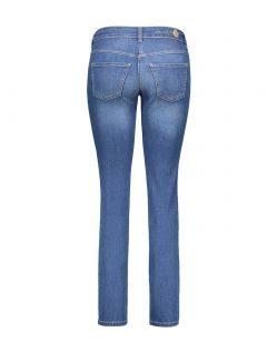MAC DREAM Jeans - Straight Leg - Mid Blue Authentic Wash - Hinten