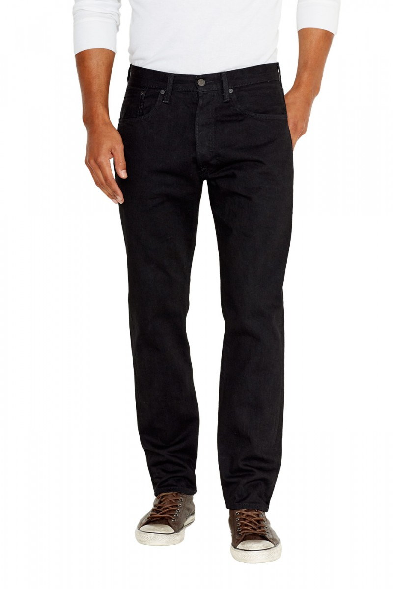 Levis 501 CT Jeans - Tapered Fit - Black Black Rinse - Front