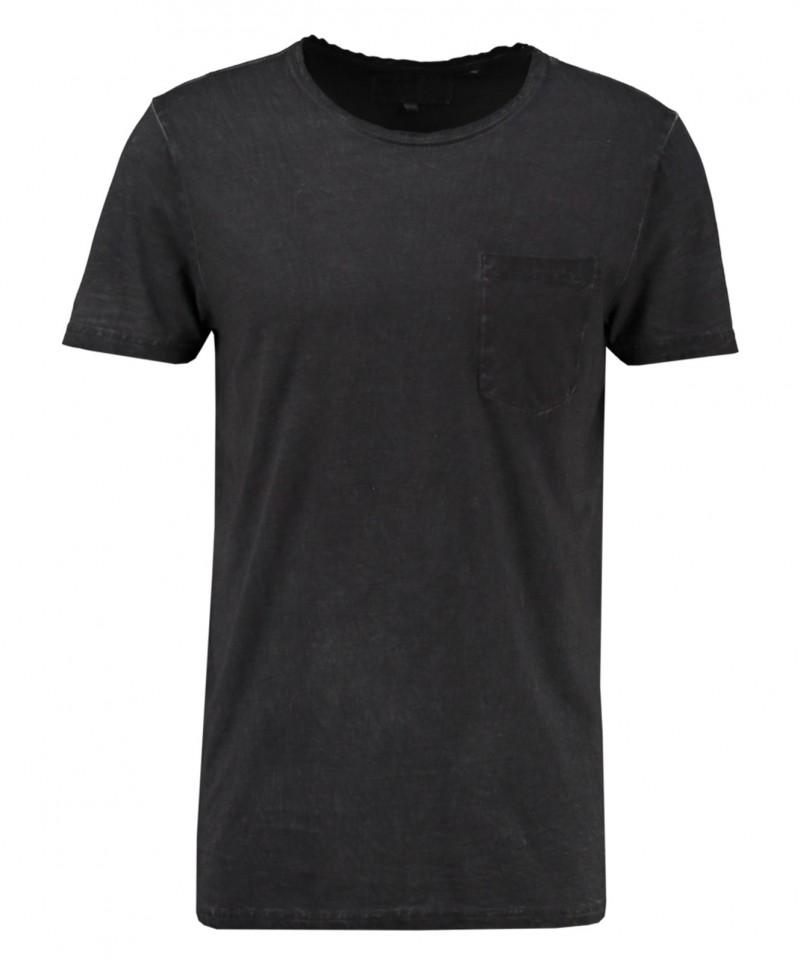 Garcia Rico - Schwarzes T-Shirt mit Rundhalsausschnitt